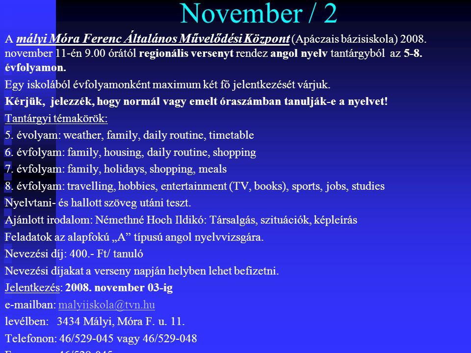 November / 2