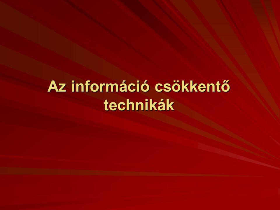 Az információ csökkentő technikák