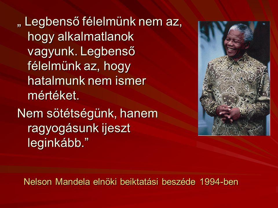 Nelson Mandela elnöki beiktatási beszéde 1994-ben