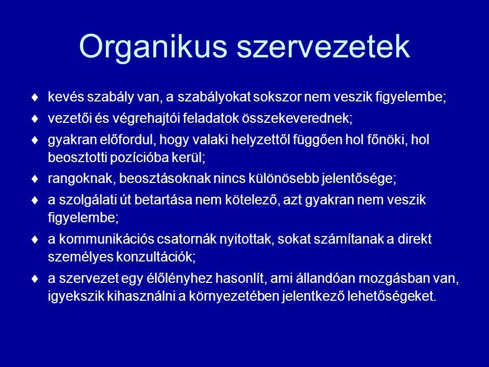 Organikus szervezetek