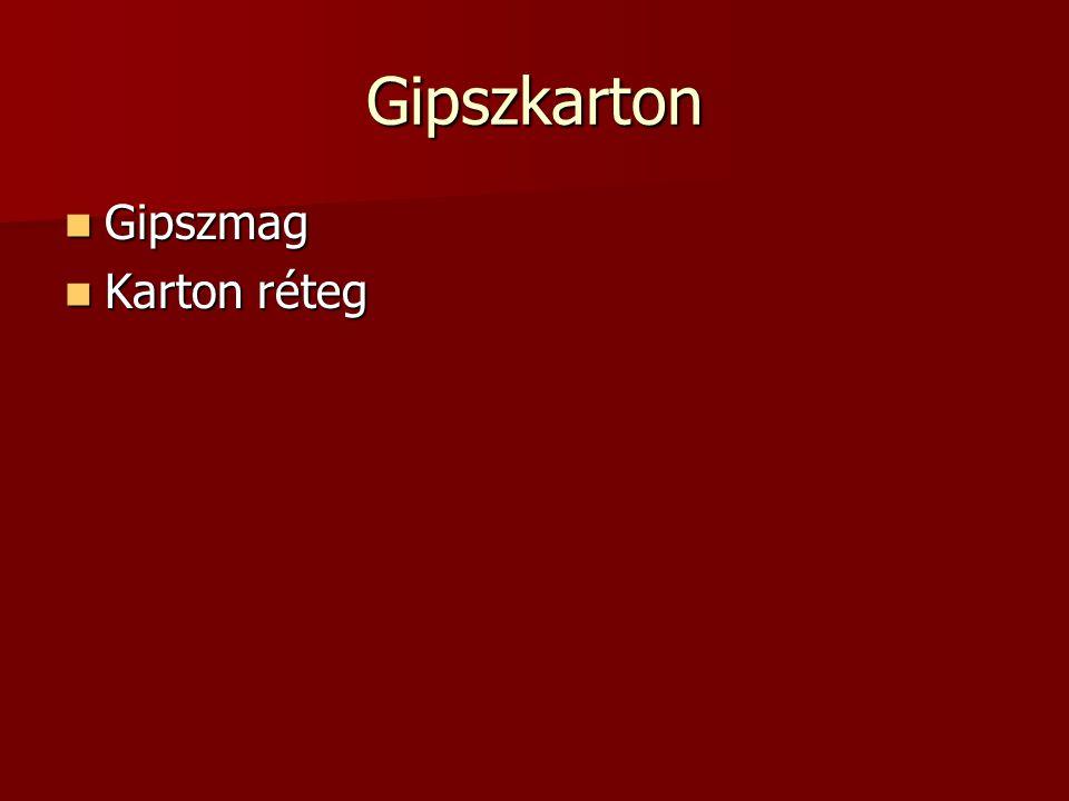 Gipszkarton Gipszmag Karton réteg