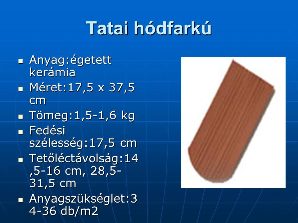 Tatai hódfarkú Anyag:égetett kerámia Méret:17,5 x 37,5 cm