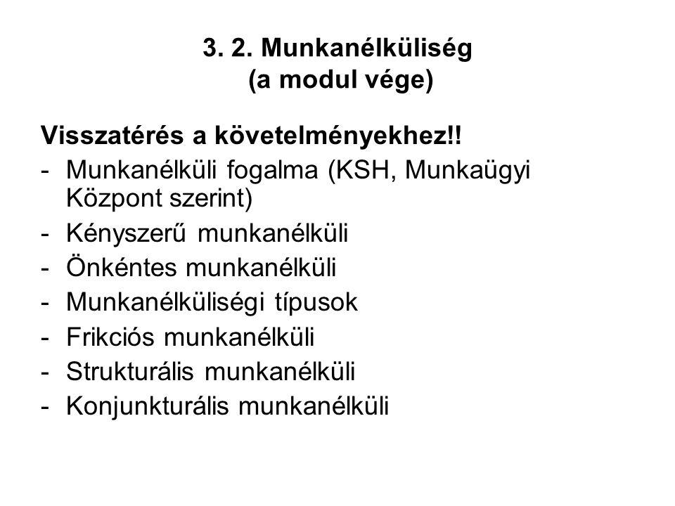 3. 2. Munkanélküliség (a modul vége)