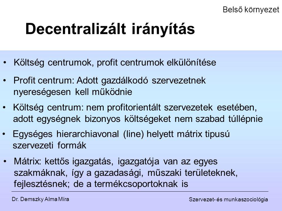 Decentralizált irányítás