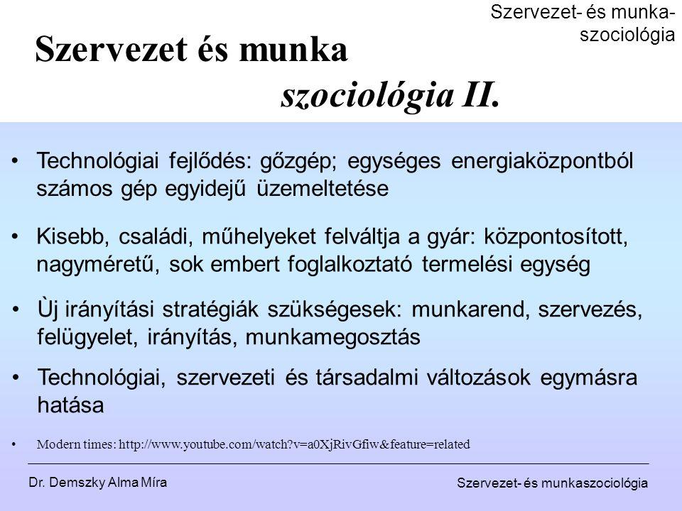 Szervezet- és munka- szociológia