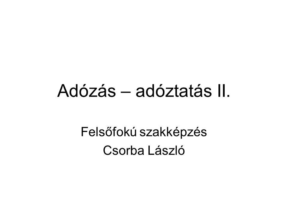 Felsőfokú szakképzés Csorba László
