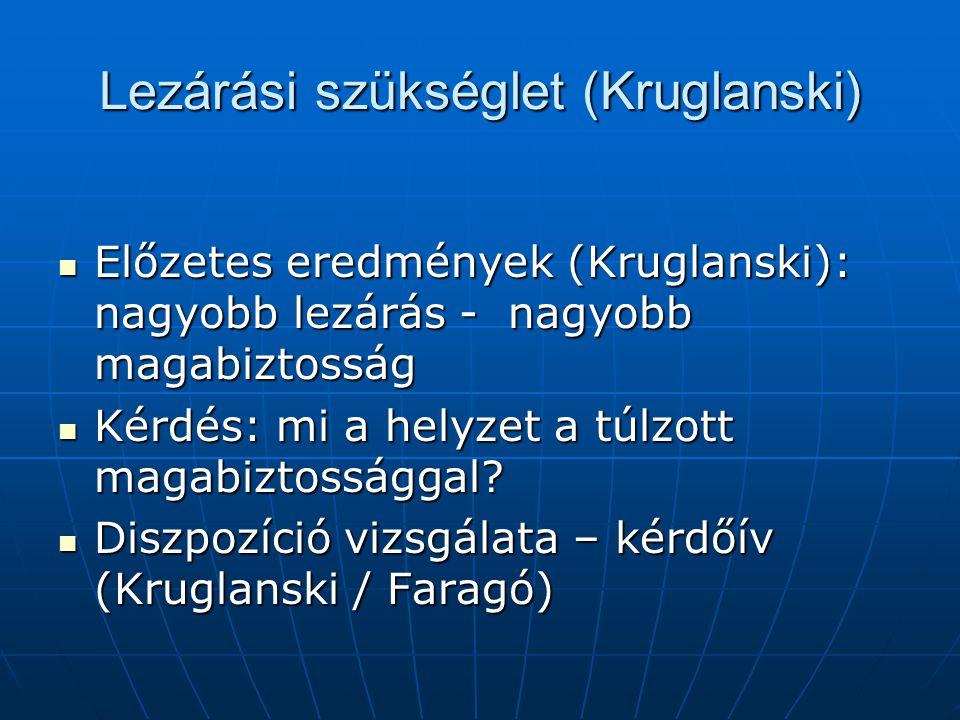 Lezárási szükséglet (Kruglanski)