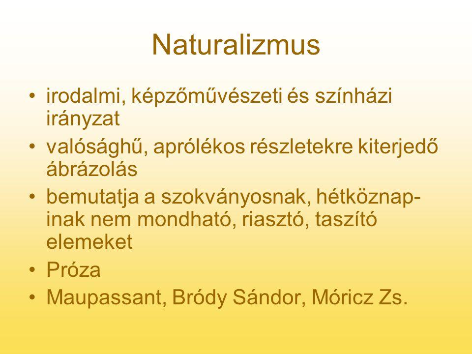 Naturalizmus irodalmi, képzőművészeti és színházi irányzat