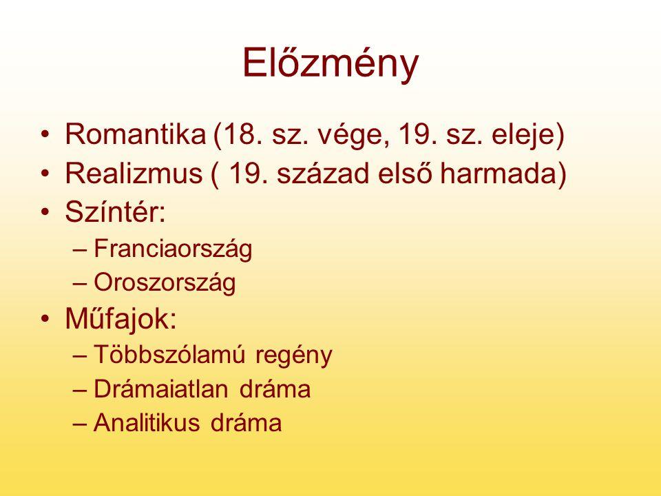 Előzmény Romantika (18. sz. vége, 19. sz. eleje)
