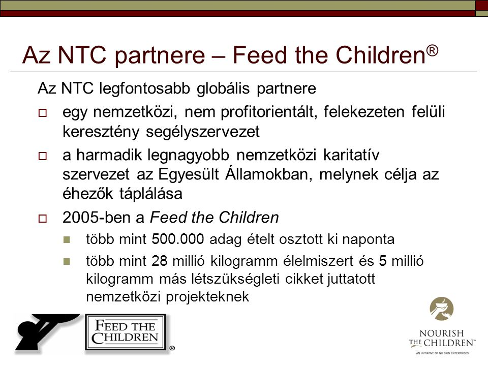 Az NTC partnere – Feed the Children®