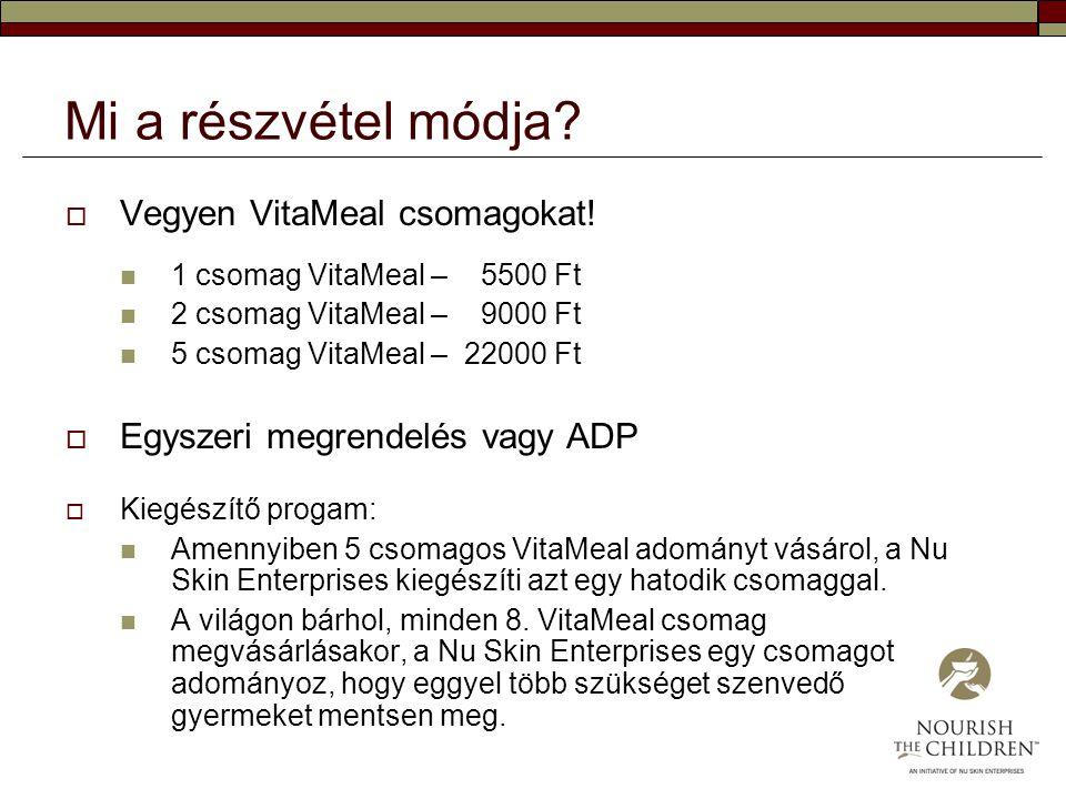 Mi a részvétel módja Vegyen VitaMeal csomagokat!