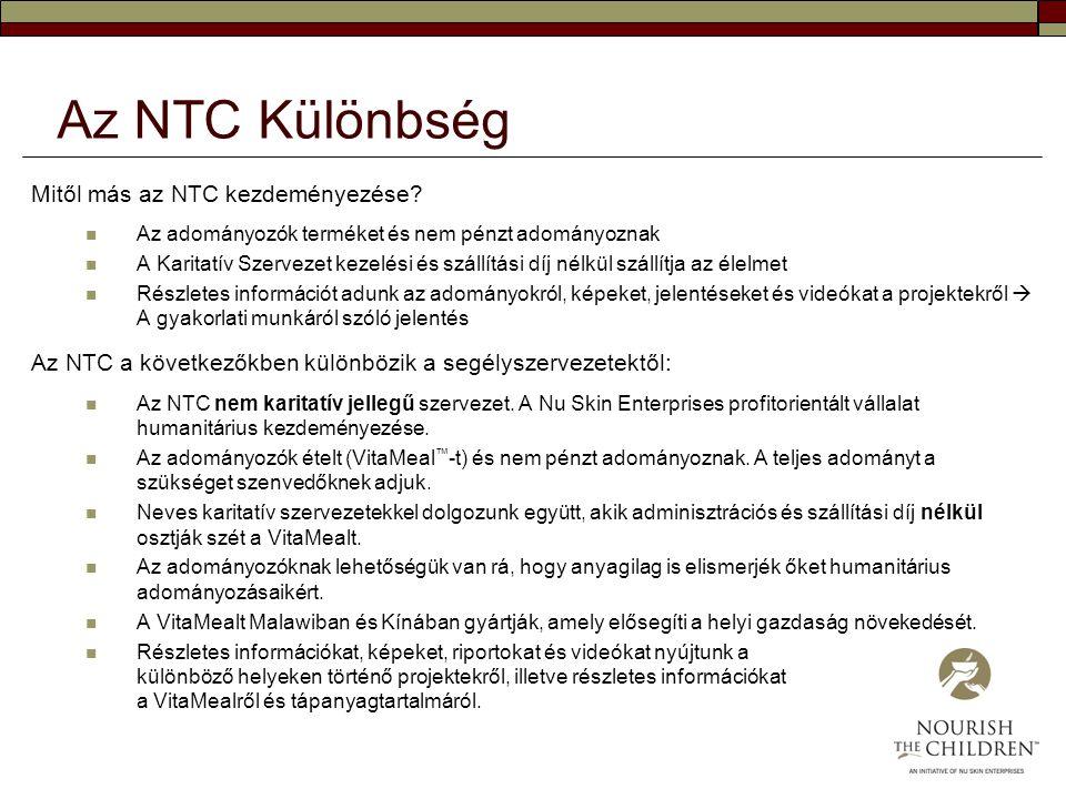 Az NTC Különbség Mitől más az NTC kezdeményezése