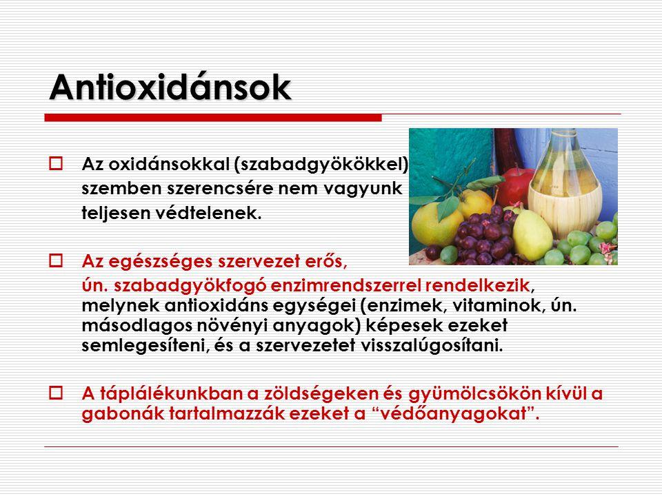 Antioxidánsok Az oxidánsokkal (szabadgyökökkel)
