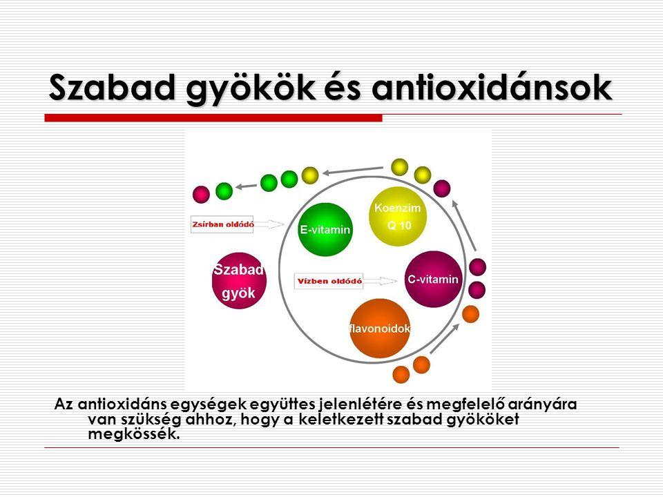 Szabad gyökök és antioxidánsok