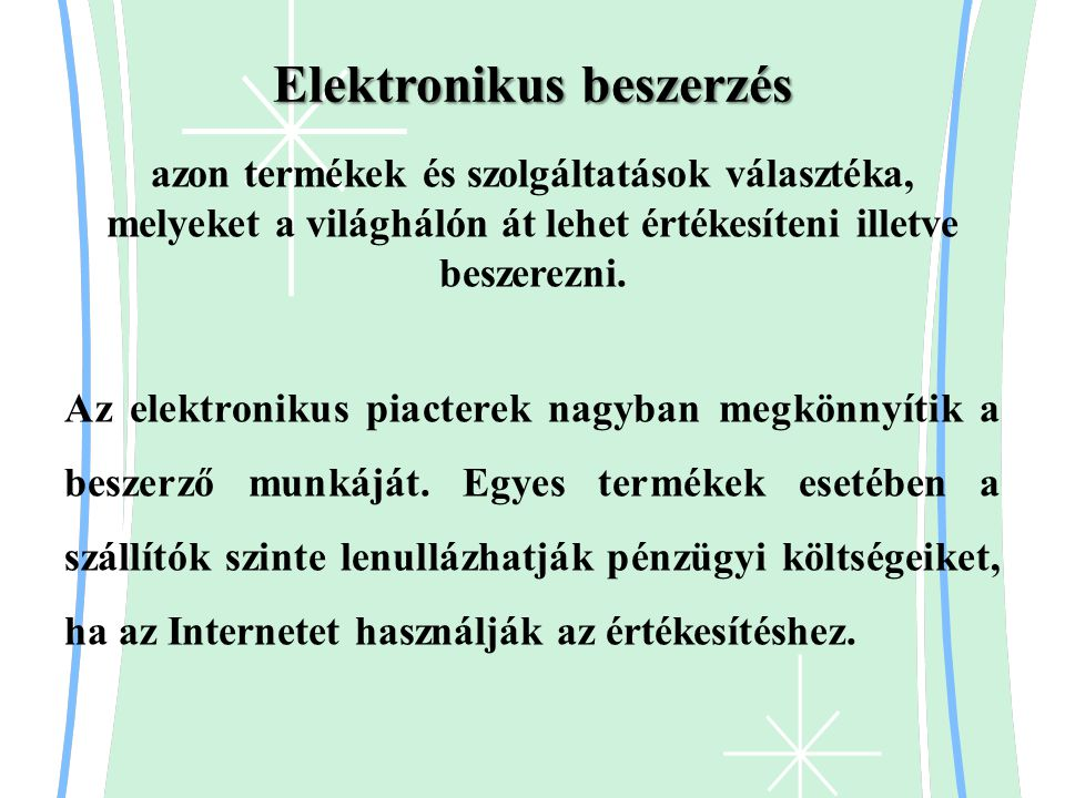 Elektronikus beszerzés