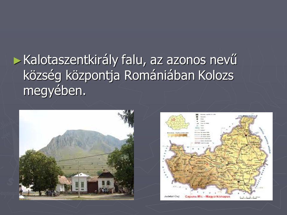 Kalotaszentkirály falu, az azonos nevű község központja Romániában Kolozs megyében.