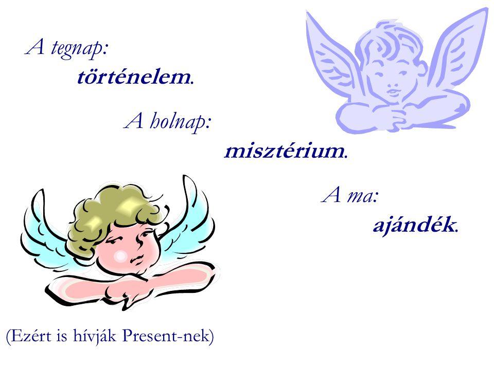 A tegnap: történelem. A holnap: misztérium. A ma: ajándék.