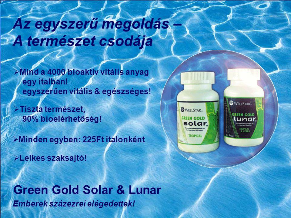 Az egyszerű megoldás – A természet csodája Green Gold Solar & Lunar