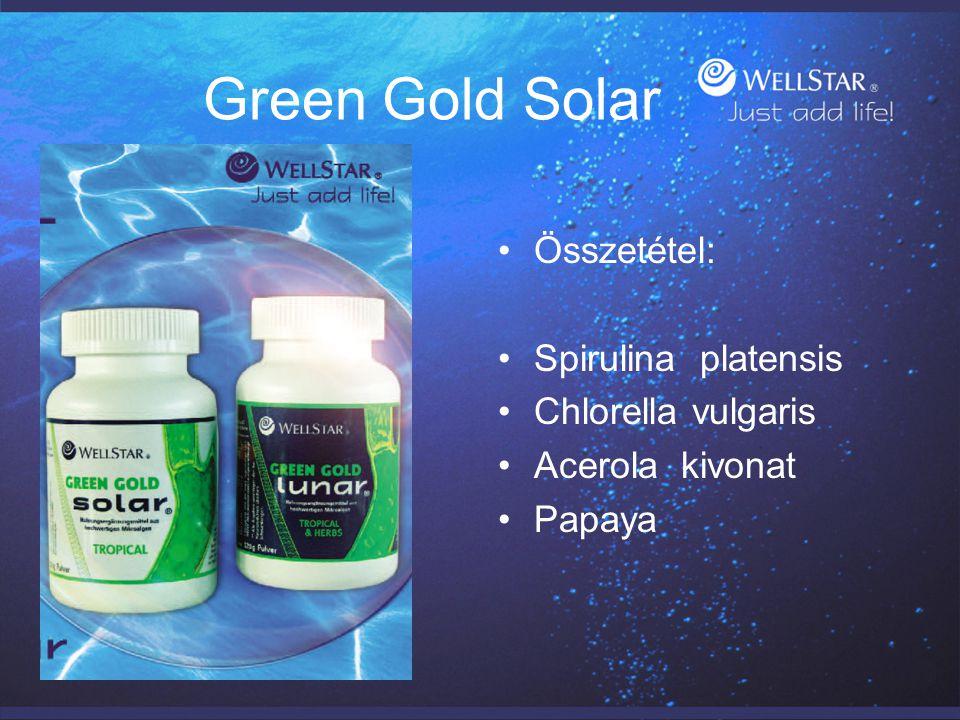 Green Gold Solar Összetétel: Spirulina platensis Chlorella vulgaris