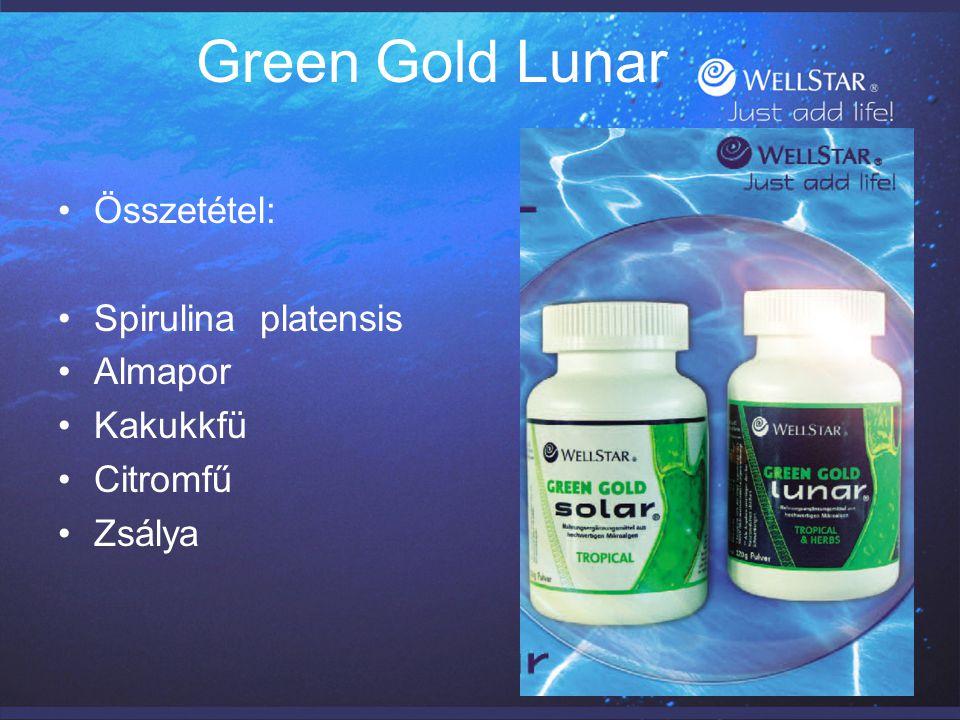 Green Gold Lunar Összetétel: Spirulina platensis Almapor Kakukkfü