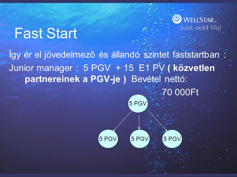 Fast Start Így ér el jövedelmező és állandó szintet faststartban :