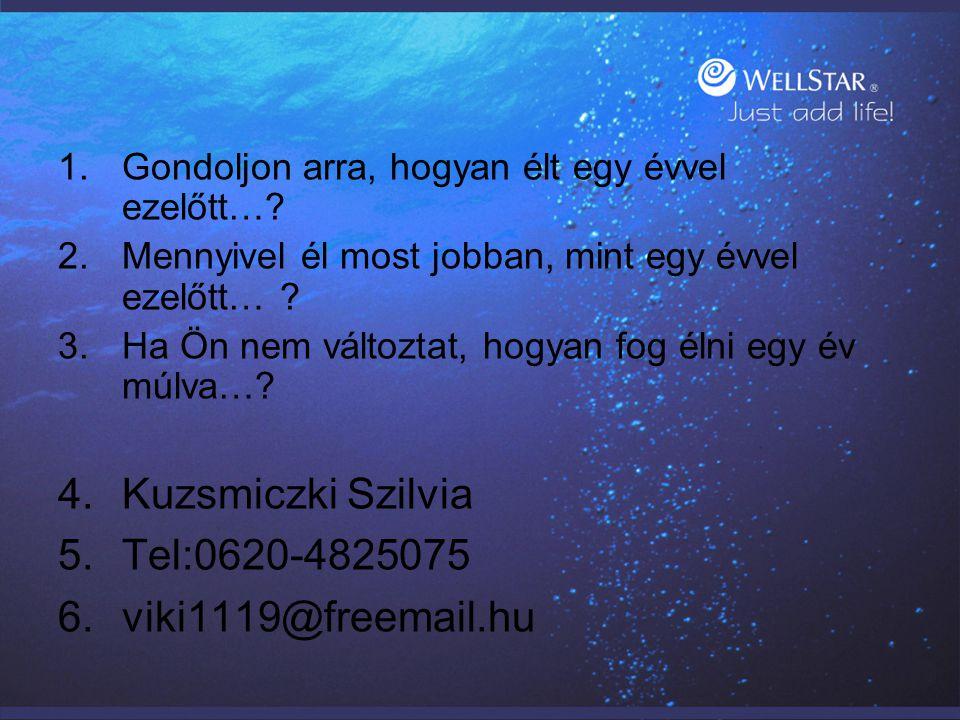 Kuzsmiczki Szilvia Tel:0620-4825075 viki1119@freemail.hu