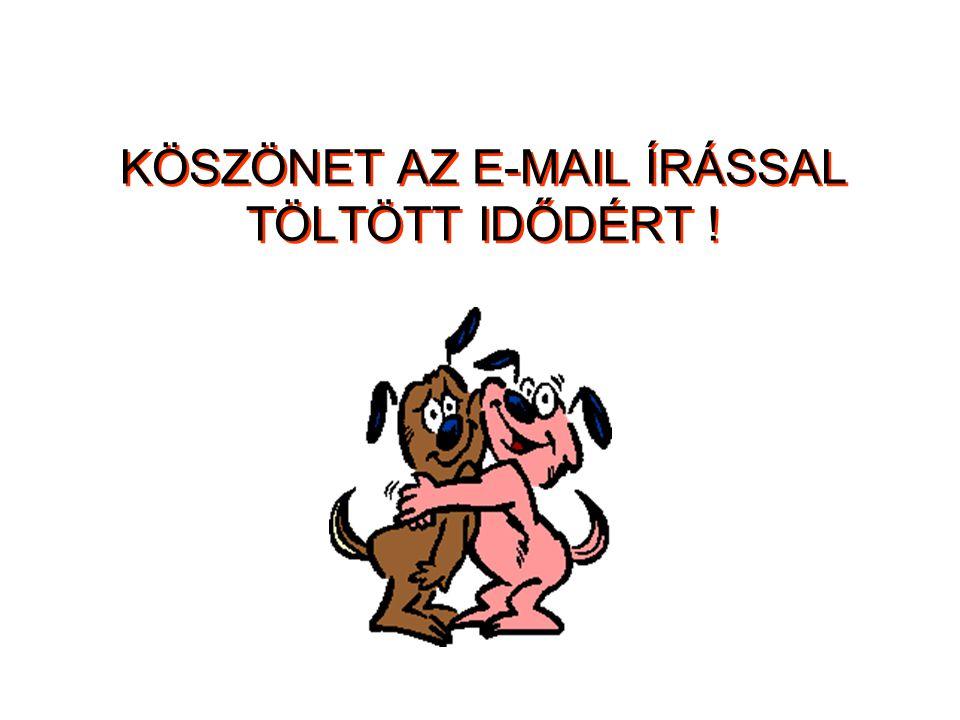 KÖSZÖNET AZ E-MAIL ÍRÁSSAL TÖLTÖTT IDŐDÉRT !