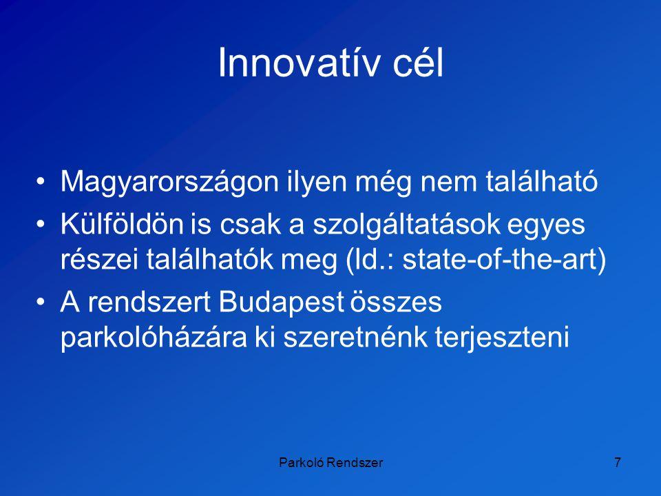 Innovatív cél Magyarországon ilyen még nem található