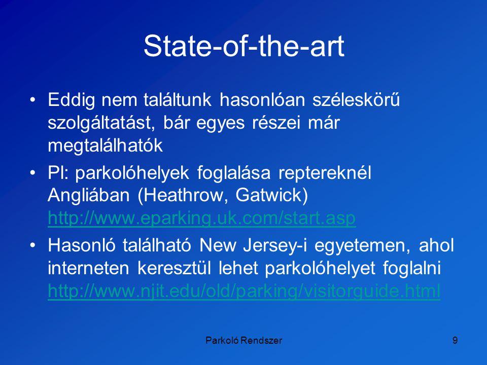 State-of-the-art Eddig nem találtunk hasonlóan széleskörű szolgáltatást, bár egyes részei már megtalálhatók.