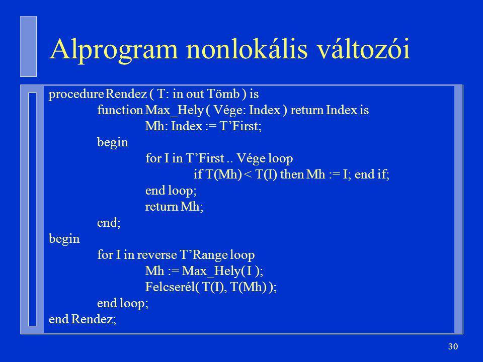 Alprogram nonlokális változói