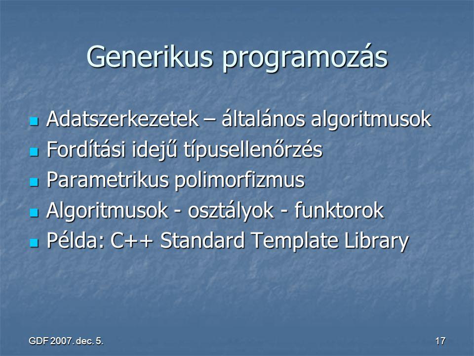 Generikus programozás