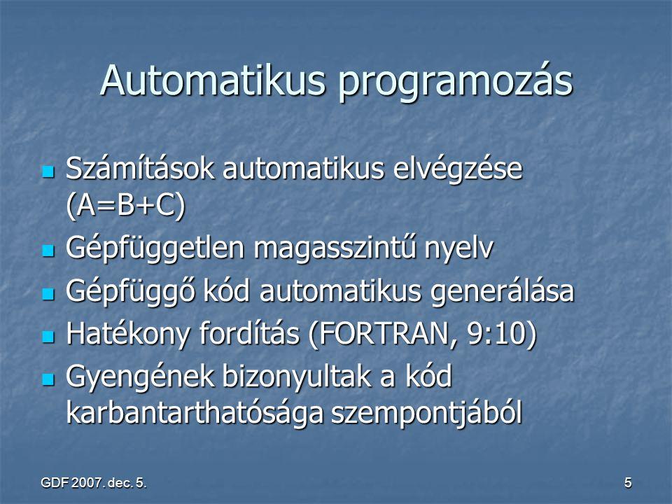 Automatikus programozás