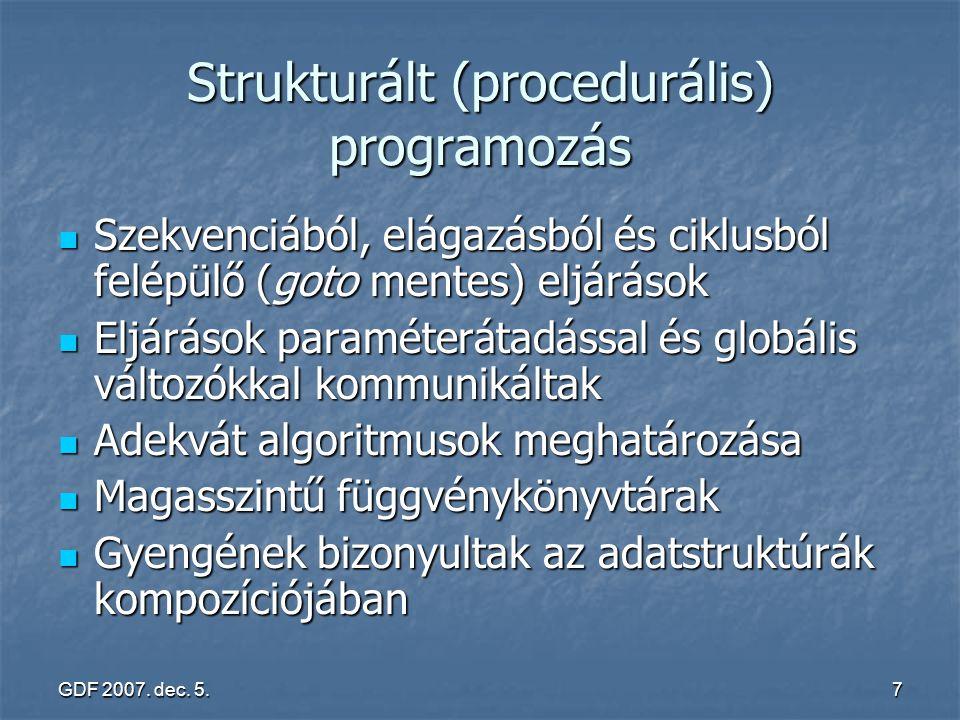 Strukturált (procedurális) programozás