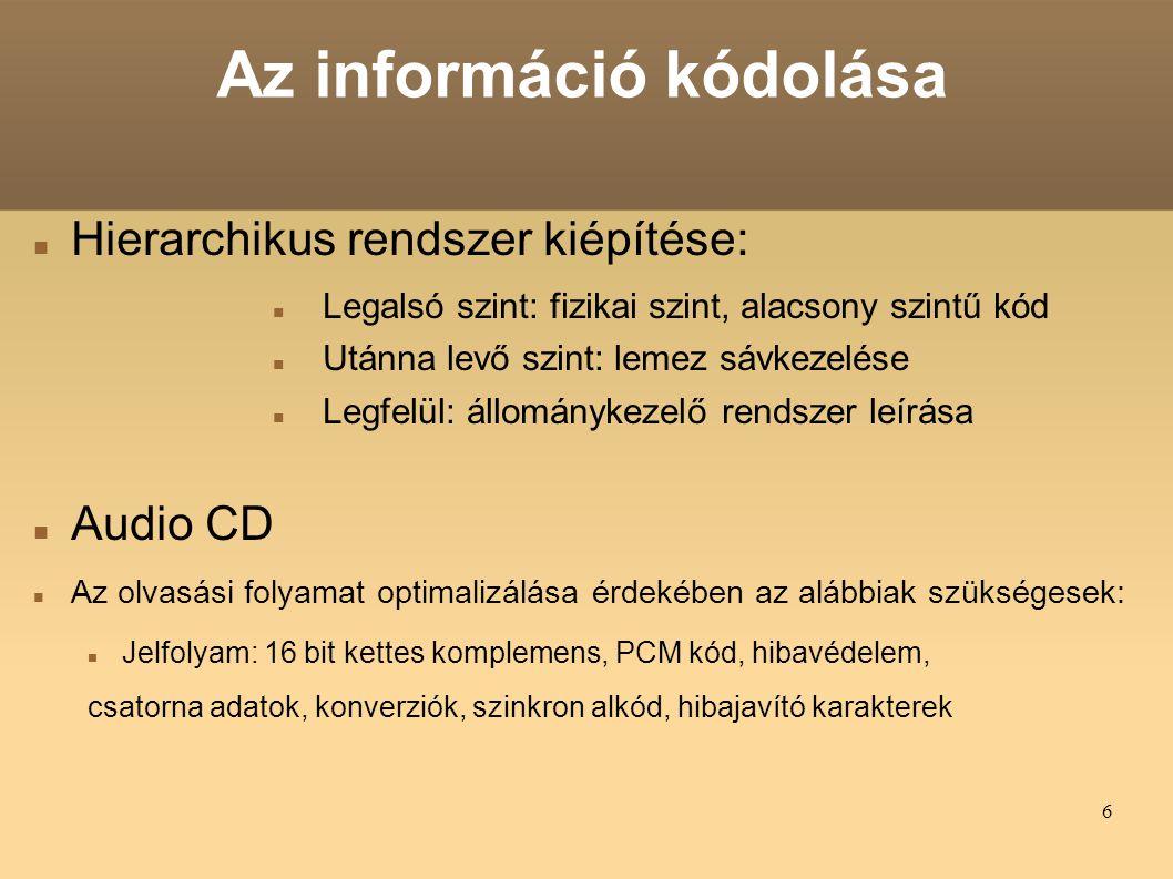Az információ kódolása
