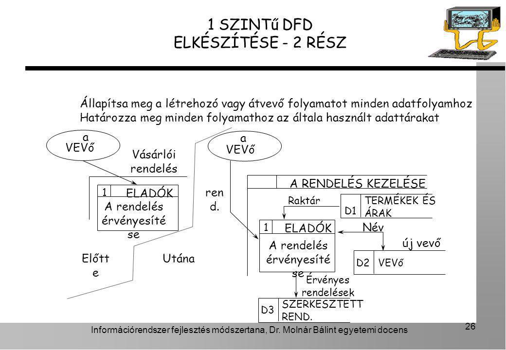 1 SZINTű DFD ELKÉSZÍTÉSE - 2 RÉSZ