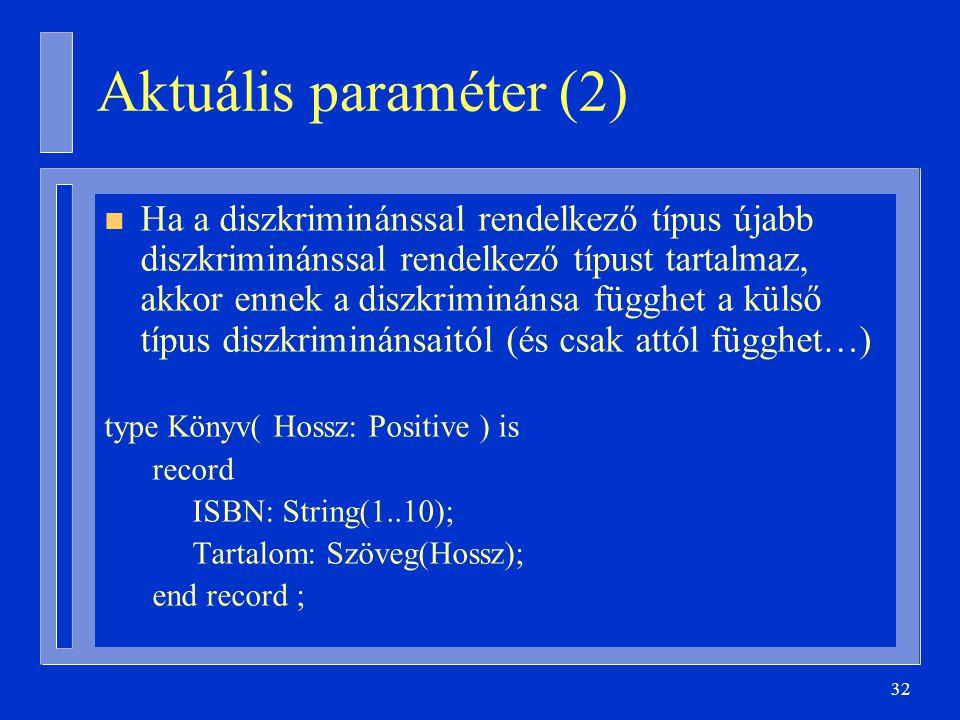 Aktuális paraméter (2)