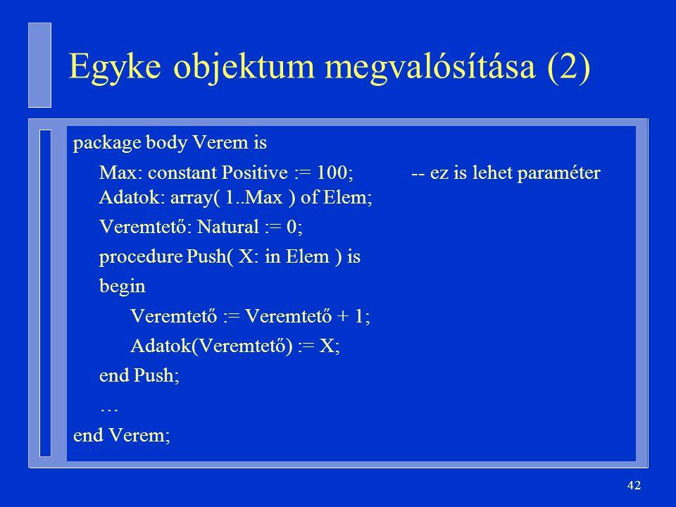 Egyke objektum megvalósítása (2)