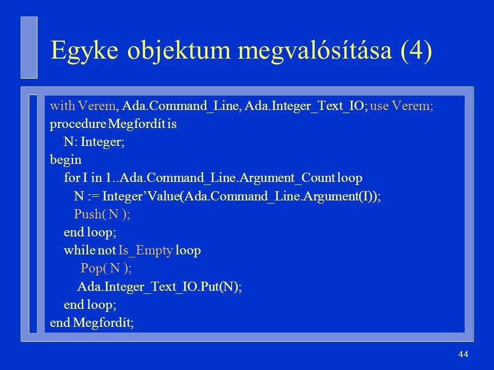 Egyke objektum megvalósítása (4)