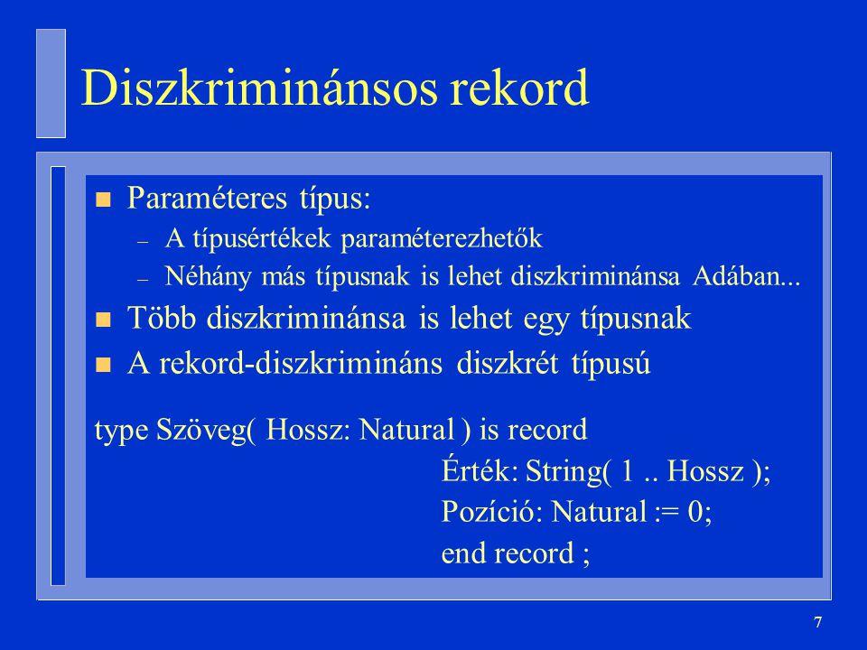 Diszkriminánsos rekord