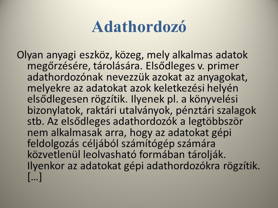 Adathordozó