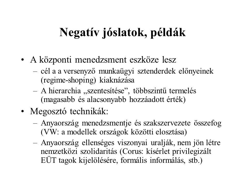 Negatív jóslatok, példák