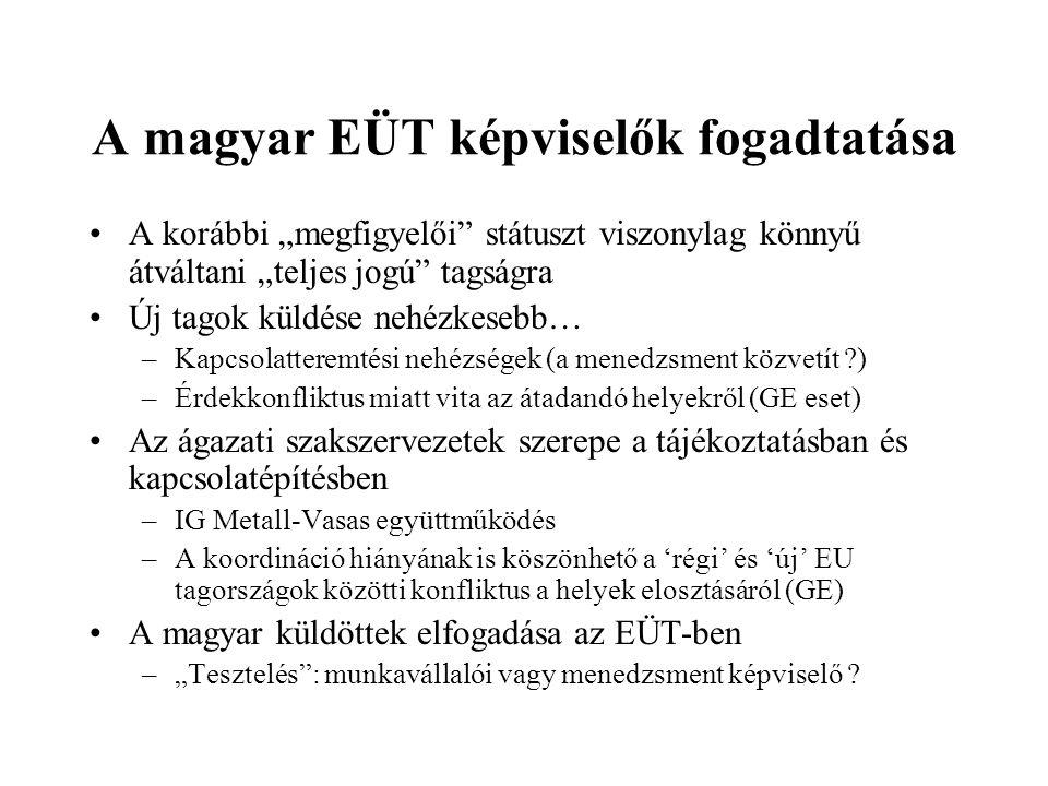 A magyar EÜT képviselők fogadtatása