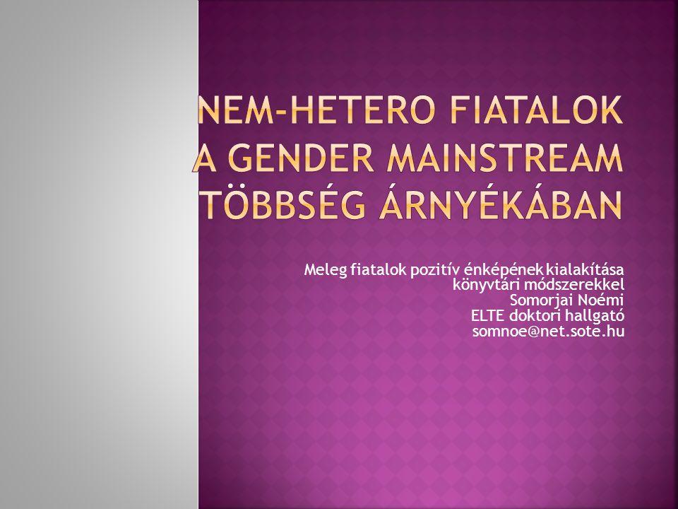 Nem-hetero fiatalok a gender mainstream többség árnyékában