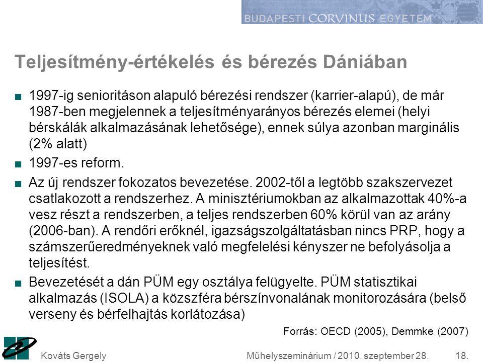 Teljesítmény-értékelés és bérezés Dániában