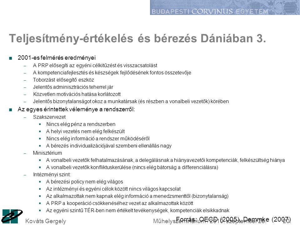 Teljesítmény-értékelés és bérezés Dániában 3.