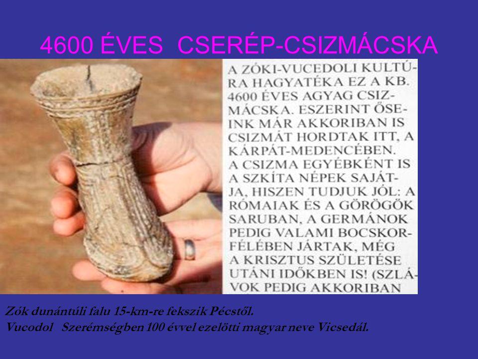 4600 ÉVES CSERÉP-CSIZMÁCSKA