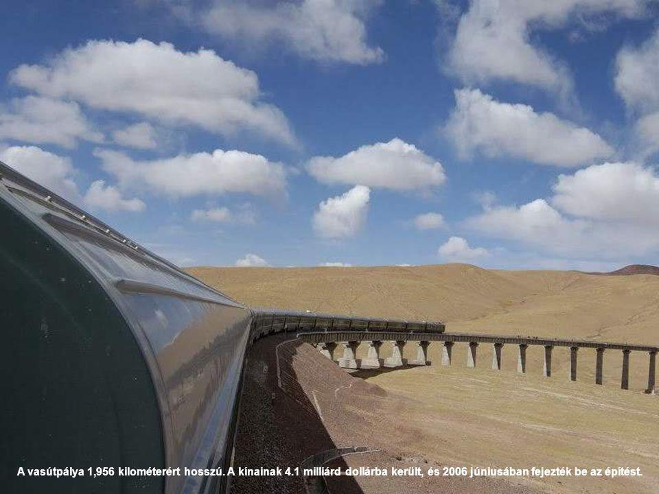 A vasútpálya 1,956 kilométerért hosszú. A kínainak 4