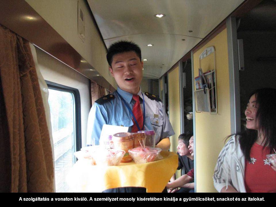 A szolgáltatás a vonaton kiváló