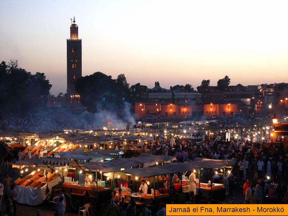 Jamaâ el Fna, Marrakesh - Morokkó