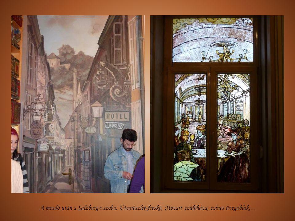 A mosdó után a Salzburg-i szoba